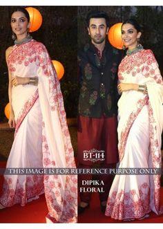 Bollywood Replica - Deepika Padukone Designer Off-White Saree - BT-114