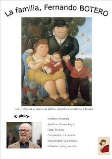 La familia, BOTERO | ¡Todos adictos al español! Spanish 1, Spanish Class, Teaching Spanish, High School, Classroom, Education, Teaching Ideas, Art & Literature, Spanish Classroom