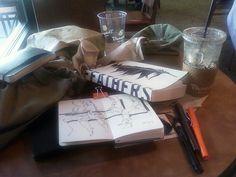 "251012  ""my stuff at Panera"" by -watcher-, via Flickr"
