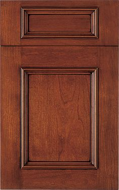 Springfield Recessed door style by #WoodMode, shown in Fireside finish with Black glaze on cherry.