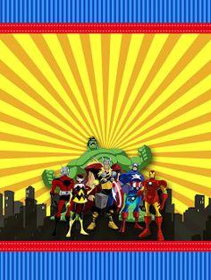 Los Vengadores Comic: Etiquetas para Candy Bar de Fiesta para Imprimir Gratis.