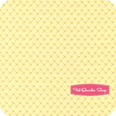 Stella Dot Yellow on Pale Yellow Stella Dot Yardage SKU# STELLA-1-YELLOW