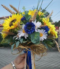 Letní svatební kytice z umělých květin