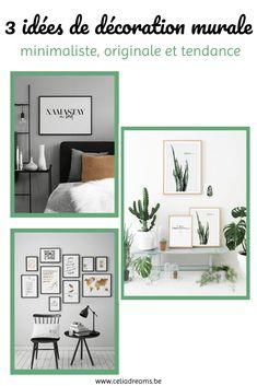 3 idées de décoration murale minimaliste, originale et tendance: comment aménager un mur avec des cadres photos pour que ce soit harmonieux. Tuto, astuces et conseils pour embellir un mur ou une pièce de votre maison/ appartement à moindre coût (pas cher). Le #minimalisme en #déco: impression de photos ou de cadres urban jungle, sur bois ou avec des citations motivantes. Peu pour un effet moderne et chic. #tuto #pattern #decoration #minimaliste Diy Décoration, Gallery Wall, Coin, Living Room, Permaculture, Frame, Home Decor, Minimalist Interior, Minimalism