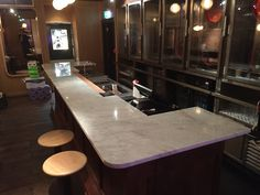 Lovely Carrara marble bar top by J&R Marble.  https://www.jrmarble.co.uk/our-work  #home #decor #marble #bartop #interior