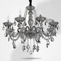 "New! Gorgeous 8 Lights Gray Crystal Chandelier Lamps Vogue Lighting Ceiling Fixture H 24.8"" X W 29.5"" Danny-H Home Fashion,http://www.amazon.com/dp/B00F52XU0A/ref=cm_sw_r_pi_dp_5iW.sb0D0N7QAVTY"