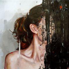 Cesar Biojo,Estuche 21, oil on canvas, 40 x 40 cm, 2014.