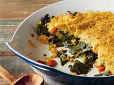Deep Dish Greens with Millet Amaranth Crust