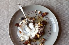 Yogurt with Toasted Quinoa, Dates, and Almonds