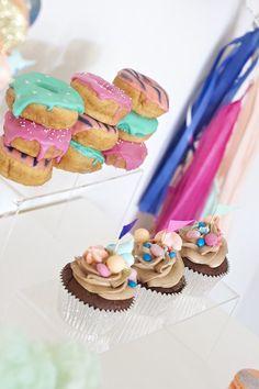 Cupcakes + Donuts from a Circus Birthday Party via Kara's Party Ideas KarasPartyIdeas.com (7)