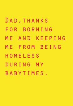 Funny birthday card for Dad funny Father's day by TenseandUrgent