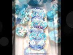 Cumple de Uma temático festejando sus 5 añitos. Mesa dulce y candy bar con la temática de Frozen de Disney en colores blanco, celeste, turquesa y plata. Tort...