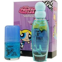 Powerpuff Girls Bubbles By Warner Bros For Women. Set-edt Spray 1.7 oz & Roll On Glitter 1 oz by Warner Bros. Save 84 Off!. $5.50. This item is not for sale in Catalina Island. Packaging for this product may vary from that shown in the image above. Launched by the design house of Warner Bros, POWERPUFF GIRLS BUBBLES is a women's fragrance that possesses a blend of a blend of honey and apples, a sweet fragrance.  It is recommended for daytime wear.
