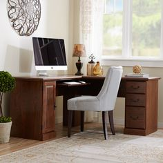 Three Posts Leith L-Shape Executive Desk