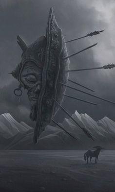 Visões infernais nas sombrias ilustrações que misturam fantasia e terror de Alexey Egorov