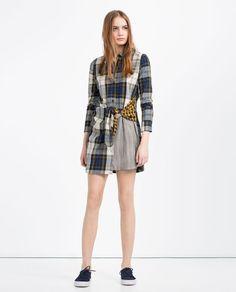 ZARA - TRF - PATCHWORK ORGANIC COTTON SHIRT DRESS