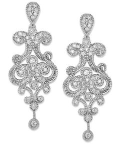 Pre owned glk 14k white gold diamond chandelier earrings 619 diamond chandelier earrings in 14k white gold 12 ct tw aloadofball Image collections