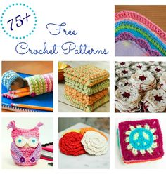 More than 75 free crochet patterns beginners and experienced crocheters alike! Fashionable accessories, home decor, handmade gifts, jewelry ... ✭Teresa Restegui http://www.pinterest.com/teretegui/ ✭