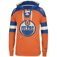 6dc9f66ba Reebok Edmonton Oilers CCM Pullover Hoodie - Orange