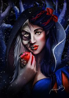 Snow+White+and+The+Witch+by+Noumenie.deviantart.com+on+@DeviantArt