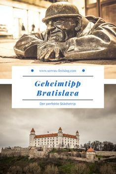 Bratislava ist eine junge und moderne Stadt, die gerade für Kurzurlaube immer beliebter wird. #Slowakei #Städteurlaub Bratislava, Travel Tips, Europe, Camping, Architecture, City, Movie Posters, Eastern Europe, Czech Republic