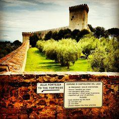 Fortezza medievale Castiglione del Lago #umbria