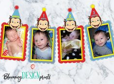 This item is unavailable Curious George Party, Curious George Birthday, Flag Photo, Photo Banner, 3rd Birthday, Happy Birthday, Birthday Ideas, Birthday Parties, Monthly Photos