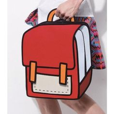 Red School Style - 2D Bag
