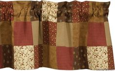 country curtains and valances   ... valance grandma s quilt lined patchwork curtain valance the country