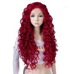 26 Inches Black Long Wavy Women Ladies Heat Resistant Lace Front Wig +Cap…