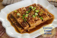 Dubu Jorim Healthy Asian Recipes, Korean Recipes, Tofu Recipes, Vegan Korean Food, Vegan Vegetarian, Vegetarian Recipes, Garlic Uses, Cooking Tofu, Pacific Rim