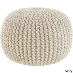 Celebration Hand Knitted Pure Cotton Braid Pouf | Overstock™ Shopping - Great Deals on Ottomans