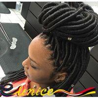 "Cheap Hair Accessories Crochet Senegalese Twists 14"" Soft Faux Locs Synthetic Crochet Braids Dread Locs Marley Braiding Hair"