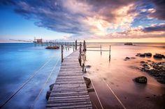 Trabocco Punta Aderci by Alessandro Scendoni Coastal, Italy, Beach, Water, Inspirational Photos, Outdoor, Nikon, Beautiful, Fotografia