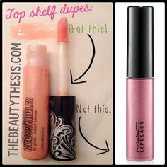 Ive got another high quality top shelf duplicate for all my frugal shoppers out there! If youre a fan of MAC Cosmetics line of Lipglass lip-glosses then you will absolutely love the Glossaholic lip-gloss line by Hard Candy (available exclusively at Wal-Mart). Pin It I used to very guiltily purchase these Lipglass glosses, but at $15 per tube I was a little devastated when I ran out because thats a little much to drop on lip gloss when youre not in the market to splurge at all. Ever