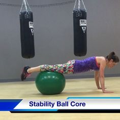 Great core exercises using the stability ball. CLICK for video. #core #stabilityball #abs #fitness