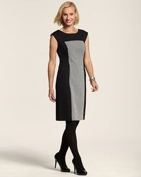 Amelia Jacquard Panel Dress #chicos  Got it and and I LOVE it!