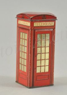 phone booth biscuit tin.