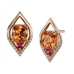 Omi Prive: Spessartite Garnet and Spinel Earrings