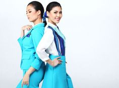 BANGKOK AIRWAYS Asava - Thai fashion label Asava created relaxed, slinky silhouettes in aerial colors for Bangkok Airways in Korean Airlines, Airline Uniforms, Thai Fashion, Airline Travel, Little Bow, Cabin Crew, Flight Attendant, Fashion Labels, Bangkok