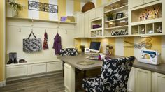 We love this Craft Room at Silverleaf by Taylor Morrison
