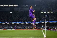 Cristiano Ronaldo Photos Photos - Cristiano Ronaldo of Real Madrid CF celebrates after scoring his team's first goal during the UEFA Champions League Final between Juventus and Real Madrid at National Stadium of Wales on June 3, 2017 in Cardiff, Wales. - Juventus v Real Madrid - UEFA Champions League Final