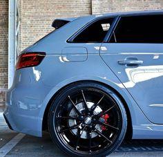 Nardo Grey Audi on black OZ wheels Audi A3 Sportback, Audi Rs3, Allroad Audi, Volkswagen, Audi Kombi, Audi Wagon, Carros Audi, Bmw M3, Nardo Grey