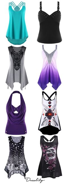 Buy the latest plus size t shirts for women at cheap prices,best plus size t shirts at Dresslily.com.#plussize#tanktops