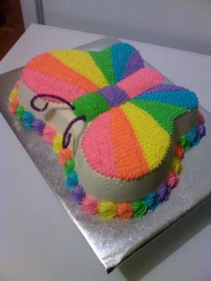 rainbow butterfly cake - This is the one Amelie said she actually wants.