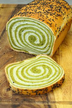 This matcha swirl bread is so soft and fluffy. The beautiful swirl gives it a wo… This matcha swirl bread is so soft and fluffy. The beautiful swirl gives it a wonderful touch. Making this swirl bread is easier than it looks, trust me. Bread Machine Recipes, Bread Recipes, Amish Recipes, Dutch Recipes, Matcha Bread Recipe, How To Make Matcha, Cake Mix Muffins, Pan Relleno, Matcha Dessert
