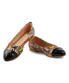 Take a look at this Yellow & Red Alphabet Ballet Flat today!