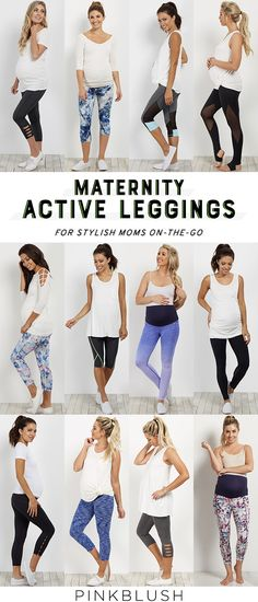 Cute and stylish maternity active wear!