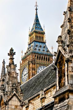 Clock tower rising over westminster, london, england big ben, beautiful buildings, beautiful Big Ben, The Places Youll Go, Places To See, England And Scotland, London Calling, Kirchen, British Isles, Great Britain, United Kingdom