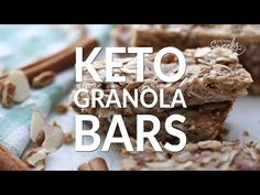 Homemade Granola Bars - 12 Ways - perfect easy, healthy on-the go gluten free snacks for school or work lunchboxes. Best of all, low carb keto options. Keto Granola, Healthy Granola Bars, Homemade Granola Bars, Easy Healthy Recipes, Keto Recipes, Dessert Recipes, Desserts, Low Fat Cake, Tartiflette Recipe